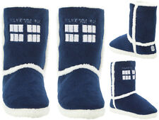 Doctor Who Tardis Slipper House Shoe Boots Officially Licensed Dr. Who