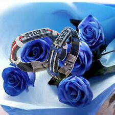Lucky Couple Lovers Leather Love Bracelet Cool Wristband Best Valentine Gifts