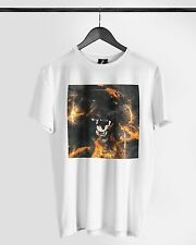Distinkt Youth Black Cat Fury Crew Neck T shirt Muscle Animal Vest Ibiza Summer*