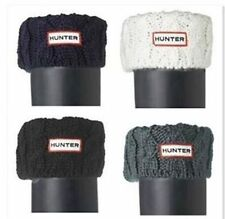1 Pair Hunter Adult Cable Knit Cuff Knee-High Welly Socks Black