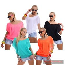 WOMENS NEW SCOOPED NECK BLOUSE BATWING SEXY LADIES CLUB PARTY TOP SIZE 6 8 10