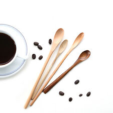 Wooden Ladle Eco-friendly Coffee Stirrer Long Handle Spoon Tableware Scoops