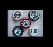 Boston Celtics Scrapbooking Crafts Bottle Caps Set #10  Flattened/Non Flattened