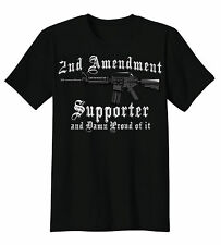 2nd Amendment Supporter & Damn Proud Of It AR-15 Rifle Gun Rights T-Shirt Tee