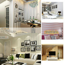 10m Simple Art Flocking Non-woven Lines Wallpaper Roll For TV Background Bedroom