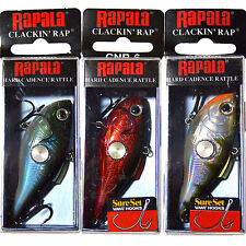 Rapala Clackin' Rap Crankbait Fishing Lure Tackle 2 1/2 inches 7/16 Oz
