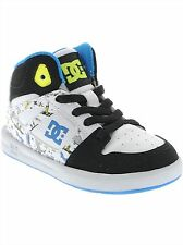 DC White-Black Print Rebound Special Edition UL Toddlers Shoe