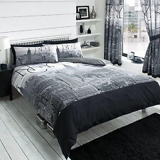 New York City Skyline Duvet Quilt Cover Bedding Set Single Double King Super NYC