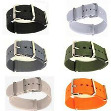 Men's Nylon Sport Wrist WatchBand Strap Infantry Military Army 6 Color 18- 20mm