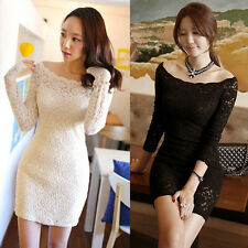 KOREAN SEXY WOMAN BANDAGE PENCIL DRESS Cocktail Party Evening Club Tunic Dresses