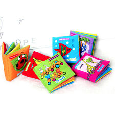 New Soft Cloth Baby Kid Intelligence Development Learn Picture Cognize Book b55