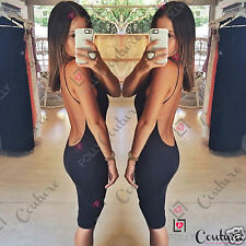 Womens Sexy Fitted Bodycon Cocktail Party Going Out Pencil Ladies Low Back Dress