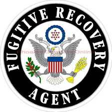 Fugitive Recovery Agent Bail Enforcement Bounty Hunter Police Sheriff Decal