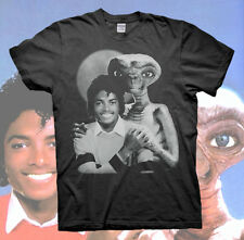 MICHAEL JACKSON E.T. THE EXTRA-TERRESTRIAL T-SHIRT Thriller Bad S M L XL tour MJ