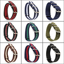 18mm 20mm Military Nylon Wrist Watch Band Strap for Watch Stainless Steel Buckle