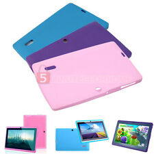 Protective Soft Silicone Skin Back Case Cover for 7 Inch Q88 Android Tablet PC