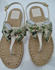 Tory Burch Penny Flat Thong Sandals, Ivory/Watercolor Botanical size 8,9,9.5