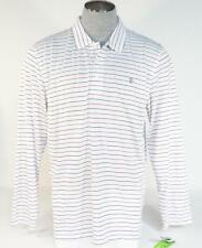 Izod Golf PerformX Cool FX White Long Sleeve Polo Shirt UPF 15 Mens NWT
