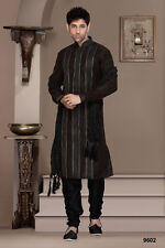 Indian Black Colour Mens Wear Kurta Payjama Designer Dresses From India