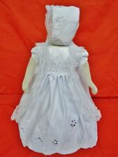 Littler Girl's 3pc Christening/Baptism Dress White Satin Bonnet/Cape Sizes 00-4