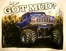 Mud Truck T-shirt 4x4 offroad  lifted FORD bogger white tee monster