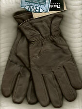 Rugged Wear Men's Brown Fine Leather Winter Dress/Drive Wrist Glove Thinsulate
