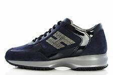 Women's HOGAN By TOD'S Shoes HXW00N0600092LU801 Sneakers INTERACTIVE H STRASS