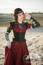 """Medieval Costume , Natural Suede Bodice """"The Alchemist's daughter"""""""
