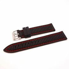 """Silicone Rubber """"Breath"""" Watch Strap Band fits All Watches 20/22/24mm"""