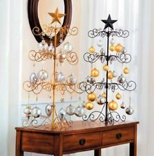 """SALE Black or Gold 36"""" METAL CHRISTMAS ORNAMENT DISPLAY TREE Holiday Decoration"""