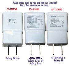 100% Genuine Samsung OEM Galaxy Note 3 4 S2 S3 S4 S5 Travel Fast Adapter Charger