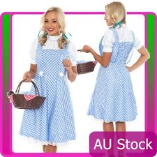Ladies Wizard of OZ Dorothy Fancy Dress Storybook Hens Party Halloween Costume