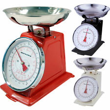 TRADITIONAL 11LB 5KG KITCHEN WEIGHING WEIGHT SCALE VINTAGE BOWL RETRO SCALES