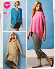 McCalls Sew Pattern 6849 Cocoon Pullover Tunic COVER-UP Hoody Draped Top XS-M