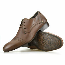 Mens Lambretta Leather Smart Casual Lace Up Work Office Formal Gibson Shoes Size