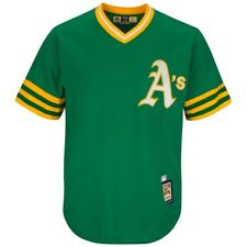 Reggie Jackson Oakland Athletics Cooperstown Cool Base Replica Green Jersey