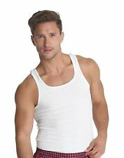 Hanes Classics Men's Traditional Fit ComfortSoft TAGLESS Ribbed A-Shirt 3-Pack