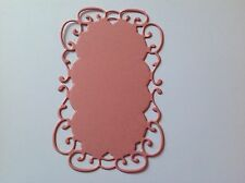 10 DIE CUT MARIANNE FANCY FRAME TOPPERS GOLD/GREEN/RED/WHITE/BLACK/PINK/LILAC
