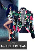 Womens CelebLook #Michelle Tropical Floral Printed Blazer Casual  Top  8-16