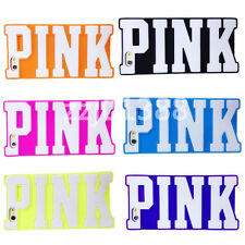 Victoria/'s Secret 3D PINK letters Silicone Case Cover for Apple iPhone Phone