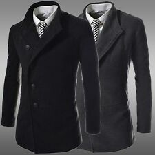 New Men's Winter Thick Slim Warm Wool Trench Parka Overcoat Coat Jacket Outwear