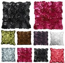 "16"" x 16"" Satin Rose Cushion Covers Stylish and Trendy Cushion Covers"