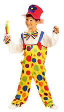 Clown fancy dress costume with hat Circus book week age 4,5,6,7,8,9,10,11 years
