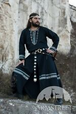 "Medieval Costume , Black Medieval Tunic ""Raven"""