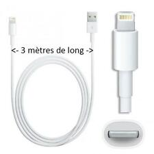 CABLE USB 8 pin 3m Apple  iPhone 5/6   iPad Air iPod Touch 5 Nano 7 Charge Data