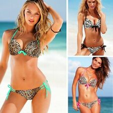 2016 Sexy Lady Swimwear Leopard Swimsuit Bikini Set Push Up Bathing Suit USA
