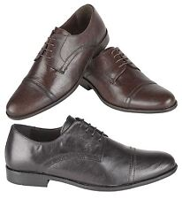 RT Mens Real Leather Oxford Formal Smart Office Wedding Casual Dress Shoes Size