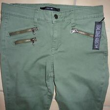 "JOE'S JEANS ""Rocker Skinny"" Zipper in Eucalyptus green Sz.25,26,28,29 NWT $189"