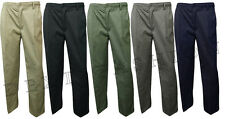 MENS FULLY ELASTICATED WAIST SMART CASUAL RUGBY  WORKING TROUSERS PANTS  W 34-42