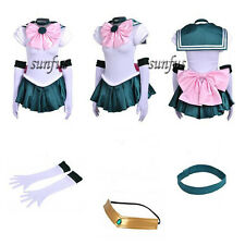 New Sailor Moon SM Makoto Kino Sailor Jupiter Dress Cosplay Costume & petticoat